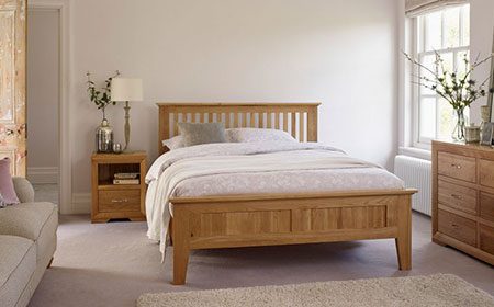 Mattresses come rolled up when you open them there is a note saying that they may have an odour, this is an understatement I've had one two weeks and it sill gives me headaches, Oakfurnitureland .