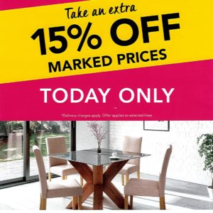 Flash Sale at Harveys – One Day Only!
