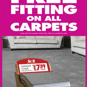 Twilight carpet offer at SCS